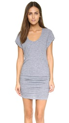 Lanston Triblend Side Ruched Dress Heather