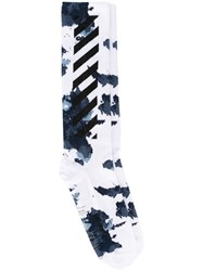 Off White 'Liquid Spots' Socks White