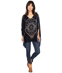 Double D Ranchwear Weeping Moon Poncho Mineral Well Women's Coat Black
