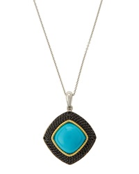 Jude Frances Turquoise And Black Spinel Pendant
