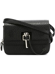 Carven Latch Detail Cross Body Bag Black