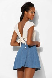 Bdg High Rise Chevron Circle Skirt Light Blue