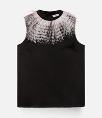Christopher Kane Feather Insert Top Black