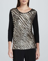 Caroline Rose Sequined Mix Easy Top Medium 10
