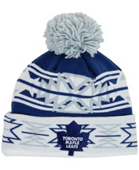 Puma Sports Licensed Division Toronto Maple Leafs Geotech Pom Knit Hat Blue White