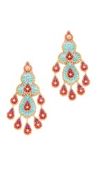 Miguel Ases Beatrice Earrings Blue Red Multi