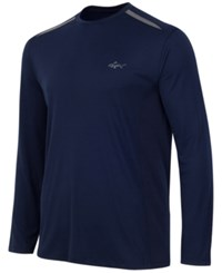 Greg Norman For Tasso Elba Men's Big And Tall Long Sleeve Mesh Inset T Shirt Only At Macy's Night Sky