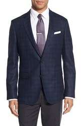 Boss Men's 'Nobis' Trim Fit Plaid Wool Sport Coat