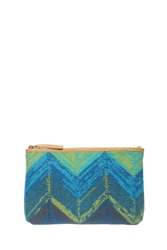Missoni Large Wool Pochette Blue