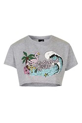 Illustrated People Island Girl Loose Fit Crop By Grey