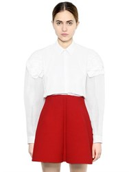 Delpozo Organza And Cotton Poplin Shirt