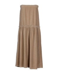 Jejia Knee Length Dresses Khaki