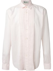 Saint Laurent Pleated Bib Shirt Pink And Purple