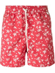 Polo Ralph Lauren Wakeboard Print Swim Shorts Red