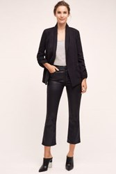 Anthropologie Ag Jodi Crop Jeans Super Black Leatherette