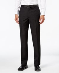 Inc International Concepts Men's Classic Fit Pinstripe Dress Pants Only At Macy's Black