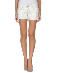 Lez A Lez Denim Shorts Light Grey