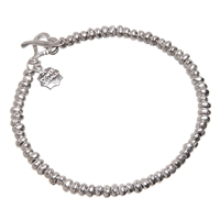 Dower And Hall Silver Nomad Nugget Bead Bracelet