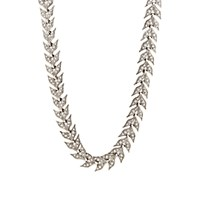 Cathy Waterman Women's White Diamond And Platinum Wheat Link Necklace No Color
