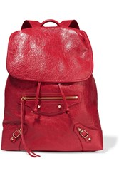 Balenciaga Classic Traveller Textured Leather Backpack