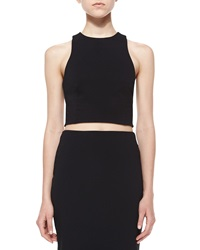T By Alexander Wang Ribbed Ponte Cross Back Crop Top Small