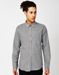The Idle Man Long Sleeve Shirt With Check Print Black