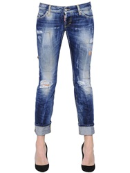 Dsquared Sexy Washed And Patched Denim Jeans Blue