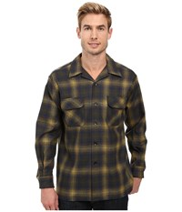 Pendleton L S Board Shirt Olive Blue Plaid Men's Long Sleeve Button Up Olive Blue Plaid