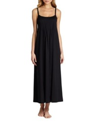 Hanro Pleated Julie Gown White Black