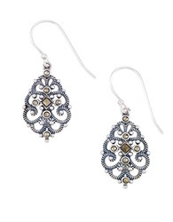 Lord And Taylor Sterling Silver Filigree Drop Earrings