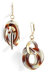Women's L. Erickson 'Twisted Loops' Drop Earrings Natural Horn