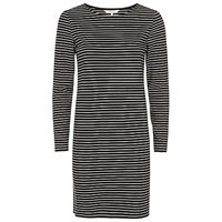 People Tree Malena Stripe Dress Black