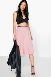 Boohoo Plain Full Circle Skater Skirt Rose