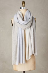 Anthropologie Shimmered Cashmere Infinity Scarf Grey Motif