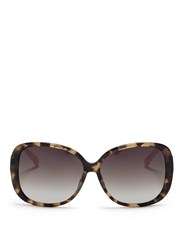 Matthew Williamson Contrast Temple Tortoiseshell Acetate Oversize Sunglasses Animal Print Multi Colour
