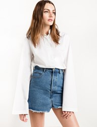 Pixie Market Wide Sleeve White Cotton Shirt 15 Off