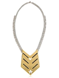 Iosselliani Full Metal Jewels Necklace Gold Silver