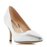 Head Over Heels Andrina Pointed Toe Mid Heel Court Shoes Silver