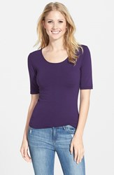 Women's Lotus Effect Reversible Elbow Sleeve Tee African Violet