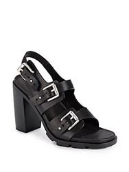 Rag And Bone Baron Leather Buckle Sandals Black