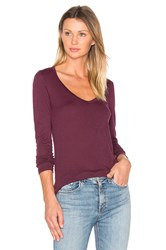 Velvet By Graham And Spencer Atlanta Long Sleeve Tee Purple