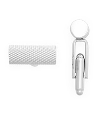 The Men's Store At Bloomingdale's Polished Rhodium Textured Barrel Cufflinks Silver