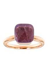 Milor Jewelry Amethyst Cocktail Ring Metallic