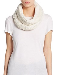 Saks Fifth Avenue Faux Fur Infinity Scarf Ivory