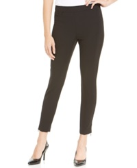 Jones New York Collection Petite Stretch Zip Ankle Pants Black