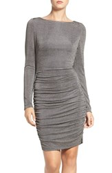 Vince Camuto Women's Ruched Metallic Knit Body Con Dress