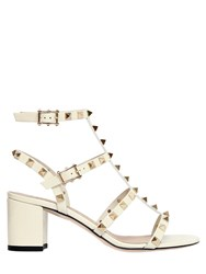 Valentino 60Mm Rockstud Patent Leather Sandals