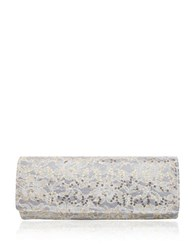 Nina Abba Lace Roll Envelope Clutch Champagne