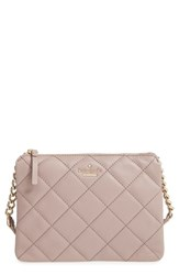 Kate Spade New York 'Emerson Place Harbor' Quilted Leather Crossbody Bag Grey Porcini