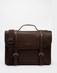 Ted Baker Jagala Leather Satchel Brown